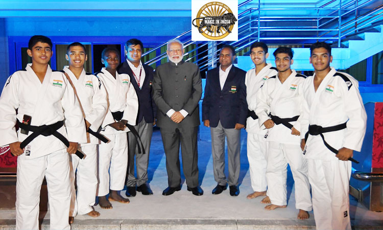 Modi meets with the Indian Judo team