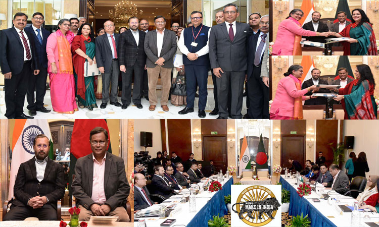 India and Bangladesh ink key agreements in Information & Broadcasting sector.