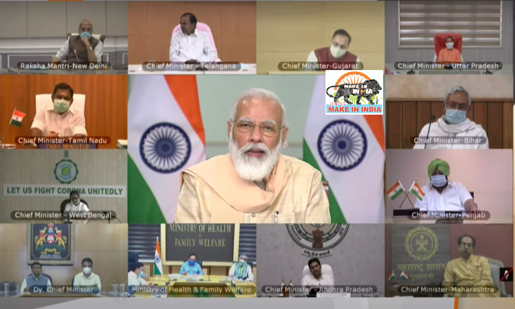 PM Modi discusses with Chief Ministers to tackle Covid-19