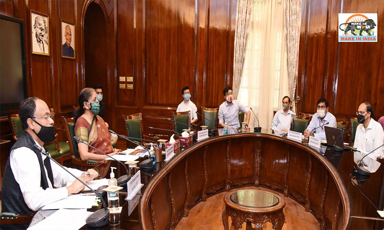 Finance Minister holds review meeting with heads of commercial banks and NBFCs