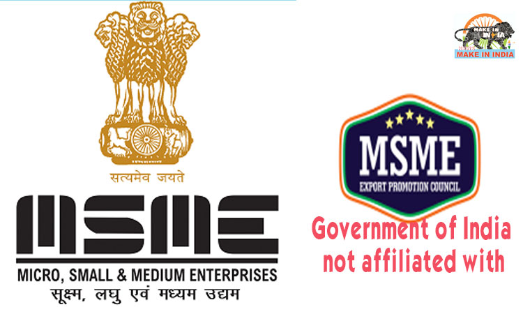 Government of India is not associated with the MSME Export Promotion Council