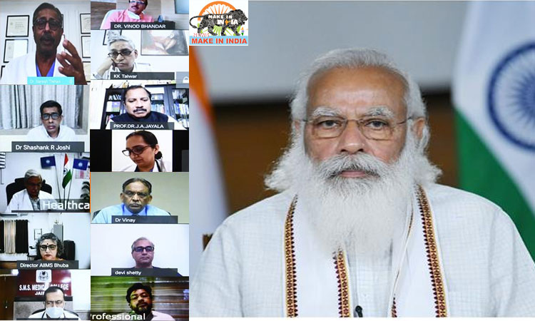 Modi reviews to COVID-19 with the Nation's Leading Doctors